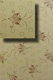 Antique Trunk Interior Lining Paper Floral Pattern H-4132
