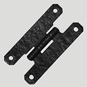 "Black Steel ""H"" Hinge Hammered Look BL-1764"
