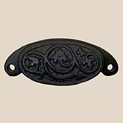 (F)Bin Pull Cast Iron Leaf Design BB-16CI BM-9139