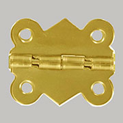 Brass Plated Stop Hinge Small OBP-2466BP