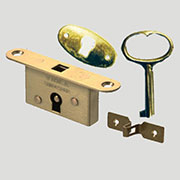 Box Cigar Humidor Full Mortise Brass Lock