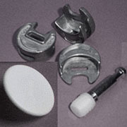 Concentric Twist Lock Fastener Disc Post and Cap Set KE-25DISCU-60U White Cap