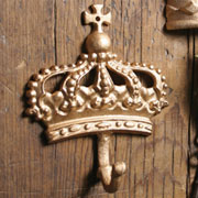 Regal Cast Iron Gold Kings Crown Hook HA-1682-4