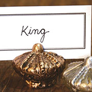 DISCONTINUED WILL NOT SHIP. Regal Place Card Holder Cast Iron Gold Kings Crown HA-1563-4