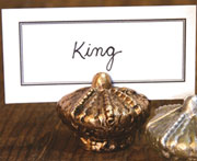 Regal Place Card Holder Cast Iron Gold Kings Crown HA-1563-4