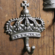 Regal Cast Iron Silver Kings Crown Hook HA-1682-5