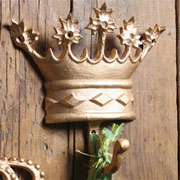 Regal Cast Iron Gold Kings Crown Hook HA-1684-4