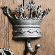 Regal Cast Iron Silver Kings Crown Hook HA-1684-5