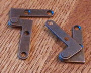 Bottom and Top of Door Hinges Pair Right Angle Inset  H-1595TPL