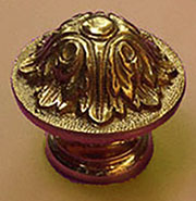 Victorian Brass Knob TRTA-7485D Very Large Cast Brass