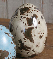 Post & Quill Porcelain Speckled Brown and Beige Bird Egg Large HA-7002-48