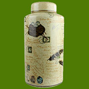 Post and Quill Porcelain Jar by Homart HA-7046-46