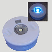 35mm Auto Sensor LED Light Round Color White, X35LEDW