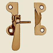 """R"" McDougall Style Brass Latch Left Hand 3/8 Inch Offset B-1517"