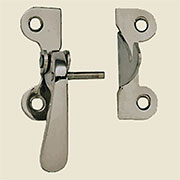 """E"" Nickel Plated Left Hand Hoosier Latch 3/8 Inch Offset VHI-N9"