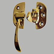 (A) Left Hand Cast Brass Ice Box Door Latch IB-30 B-2006 BM-1506PB