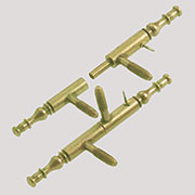 Antique Wardrobe Lift Off Hinge in Polished Brass One Hinge H-55/110P