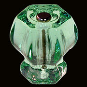 Light Green Hexagon Shaped Glass Knob 1-1/2 Inch C-0326A BM-5253