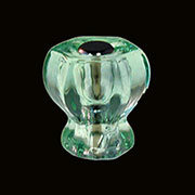 Light Green Hexagon Shaped Glass Knob One Inch with Nickel Plated Bolt 1 Inch C-0324A BM-5261
