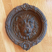 Cast Iron Lions Head Door Knocker UDX-3517