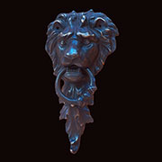 Lion's Head Door Knocker UDD-58