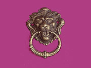 Ring Pull Victorian Lions Head Antique Brass Finished. M2-1259A