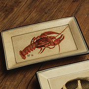 Aquatic Nautical Porcelain Lobster Tray by Homart HA-7011-23