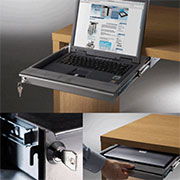 (F) X-6151LLD Lockable Lap Top Keyboard Slide Out Drawer Tray Medium