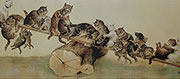 Louis Wain Cat See Saw Print