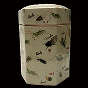 Lucky Chinese Six Sided Porcelain Jar by Homart HA-7051-100