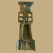 Mackintosh Styled Antique Brass Door Pull AB-1275