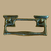 Mackintosh Styled Antique Brass Drawer Pull AB-0774