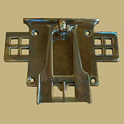 Mackintosh Styled Antique Brass Drawer Pull AB-1274