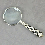 Magnifying Glass with Black and White Checker Board Handle AA-51365