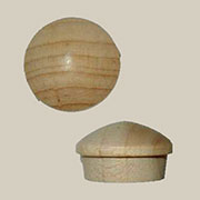 Flanged Round Head Button Plugs Maple 50 Count 5/8  W1-6535