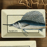 Marlin Aquatic Porcelain Tray by Homart HA-7013-183