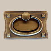 Arts and Crafts Mission Style Antique Brass Drawer Door Pull AD-0689 BM-6017