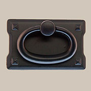 Arts and Crafts Mission Style Black Drawer Door Pull BL-0689 BM-6037