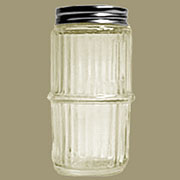Hoosier Mission Style Ribbed Clear Spice Jar MSJ-1 Clear