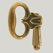 Colonial Revival Mock Key Antique Brass BM-1707AB