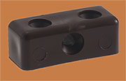 Modesty Panel Fastener Block Brown  PO675B