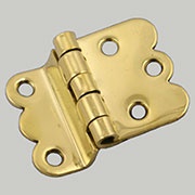 Pair of Brass Napanee Style Hinges I-37 BM-1593PB