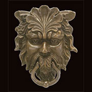 Neptune Antique Brass Finished Cast Iron Door Knocker UDD-68