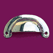 (B)Solid Cast Brass Bin Pull with Nickel Plating Hoosier N-1310 LS-139