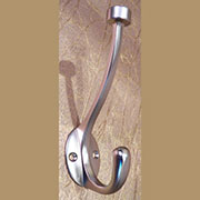 Satin Nickel Pill Top Double Coat Hook HERSH-55465S