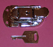 Nickel Plated Trunk Briefcase Draw Bolt Latch with Keys RH-2600