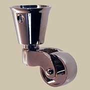 Cup Caster Nickel Plated Brass  BM-1372PN