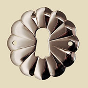 Nickel Eastlake Stamped Keyhole Cover Floral Design BM-1206PN