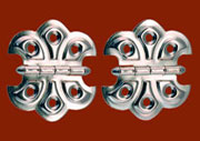 Pair of Butterfly Hinges Nickel Plated N-1792 BM-1560PN