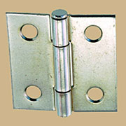 Pair of Loose Pin Nickel Plated Steel Butt Hinges
